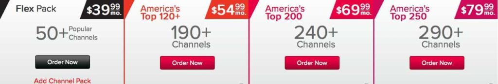 dish network pricing packages